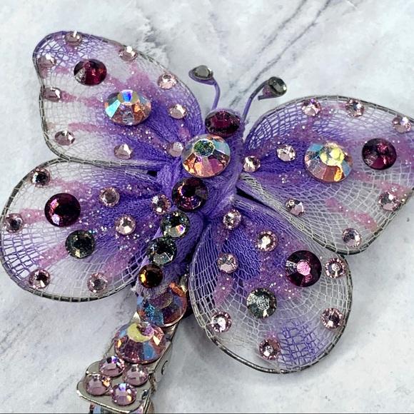 Tarina Tarantino Purple Butterfly Anywhere Clip